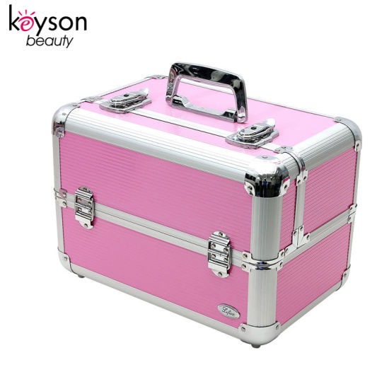 Aluminum Makeup Artist Travel Cosmetic Vanity Case With Lock