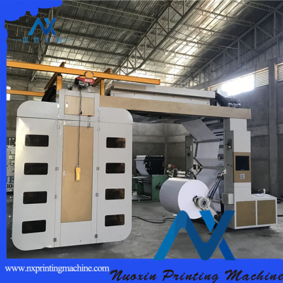 Belt Drive 8 Colour Thermal Kraft Paper Flexographic Printing Machine with Video Monitor