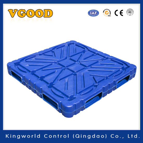 Warehouse Products 1200*1200*150 mm Double Faces 4 Ways Entry HDPE Heavy Duty Stackable Plastic Pallet