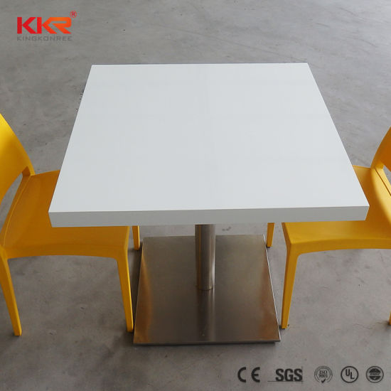 China Acrylic Solid Surface Cafe Table Tops for Restaurant