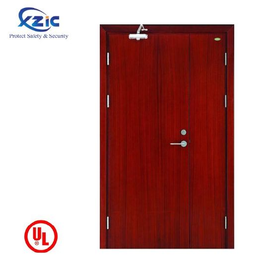 UL Fire Rated Architectural Hotel Apartment Interior Swing Open Fire Proof Wood Door