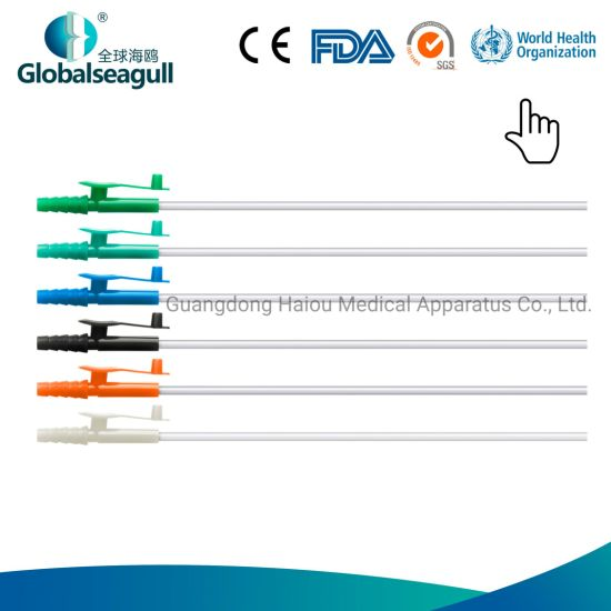China Medical Disposable Pvc Suction Catheter Colour Coded