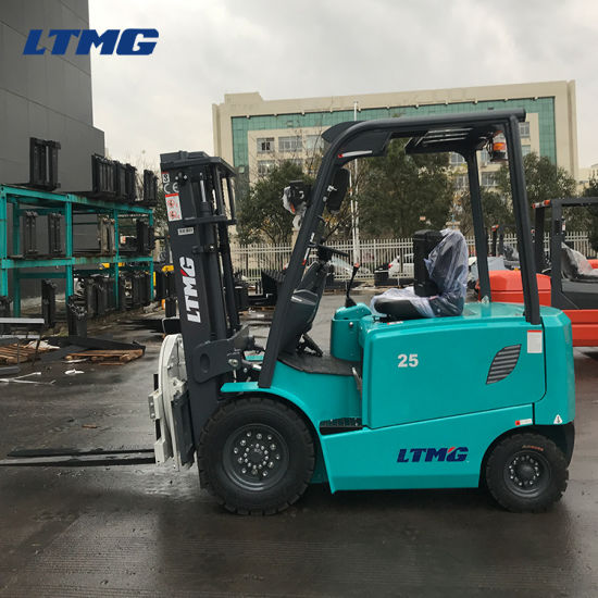 Ltmg Battery Forklift Truck 2.5 Ton Electric Forklift with Rotator