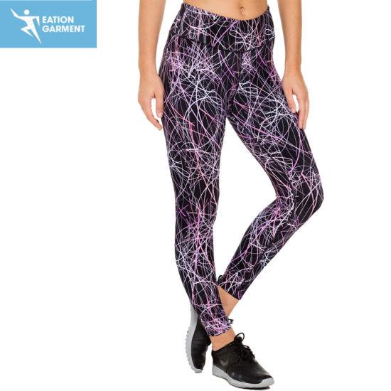 717321611b0979 Full Length Breathable Sublimation Print Running Athletic Leggings Custom