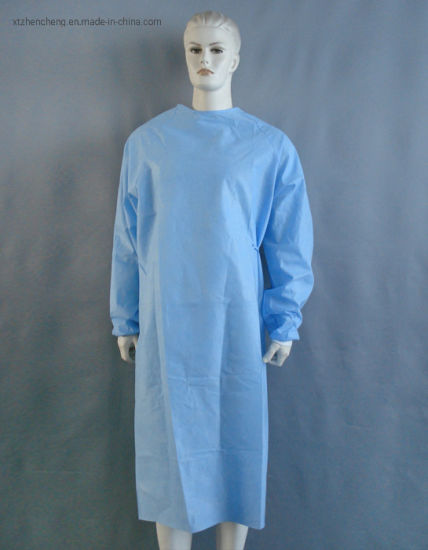 New Product Disposable Blue SMS PP Nonwoven Surgical Gown pictures & photos