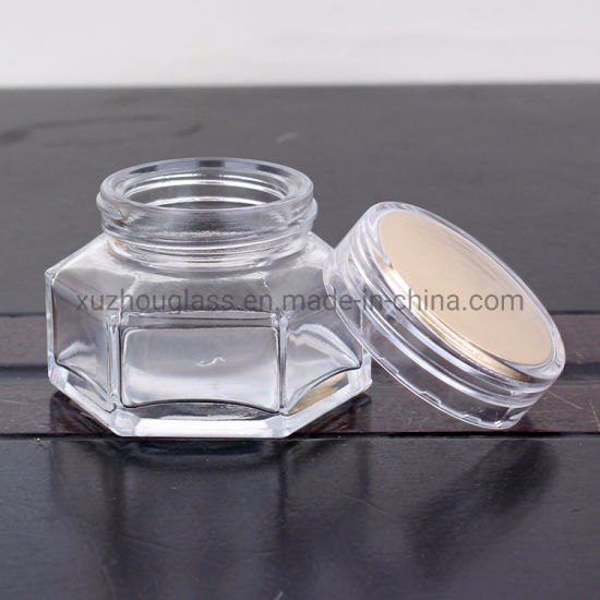 50ml Empty Hexagon Shaped Honey Glass Jar and Cap pictures & photos