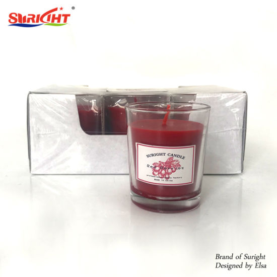 6 Scented in Glasses Sold Cheap and Hot Candles
