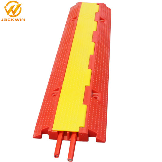Hot Selling Yellow Jacket Red 2 Channel PVC Cable Protector Ramp