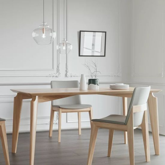 Luxury Furniture Design Diner Table Diner Chair Nature Wood Solid Timber Restaurant Furniture Hot Sale Dining Furniture Set Chinese Hotel Furniture Supplier