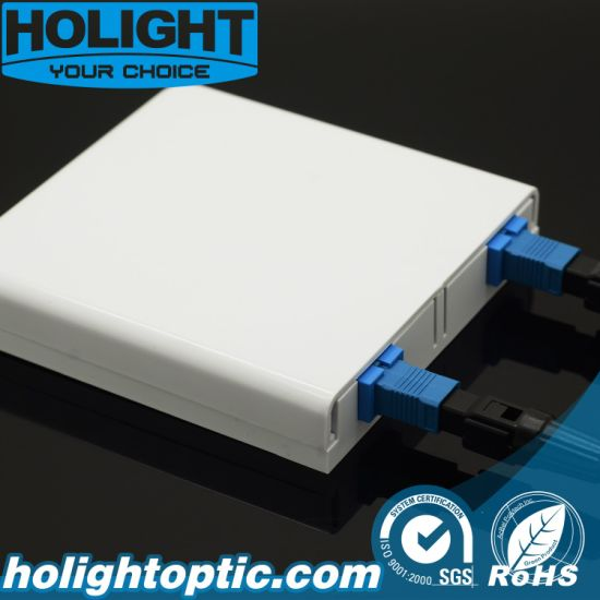 Wall Plate 2 Port Fiber Optic Faceplate
