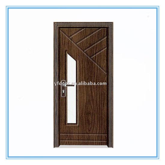 Cheap New Design PVC Wooden Door/ Beautiful Wood Door