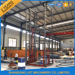 Hydraulic Guide Rail Goods Lift Platform pictures & photos