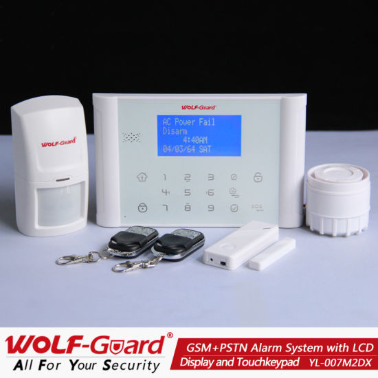 2013 Hot! GSM&PSTN Telephone Line Security Alarm System with Solar Siren (YL007M2DX)