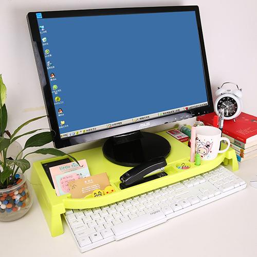 Plastic Computer Holder Desktop Organizer Stand Keyboard Storage Rack Shelf