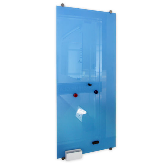 Full Colour Magnetic Tempered Glass White Board with Magnets