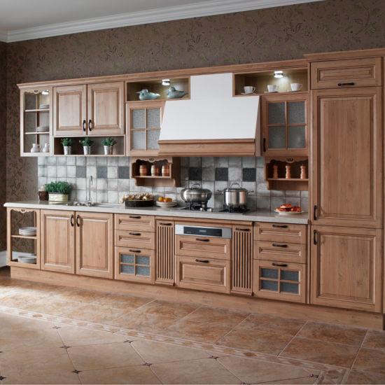 Modern Wood Kitchen Cabinet Furniture (OP13-301)