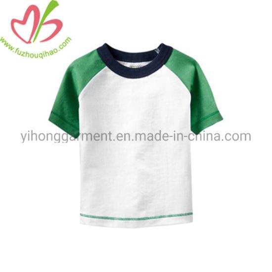Cotton Jersey Custom Color Boy Blank Reglan Shirt for Kids