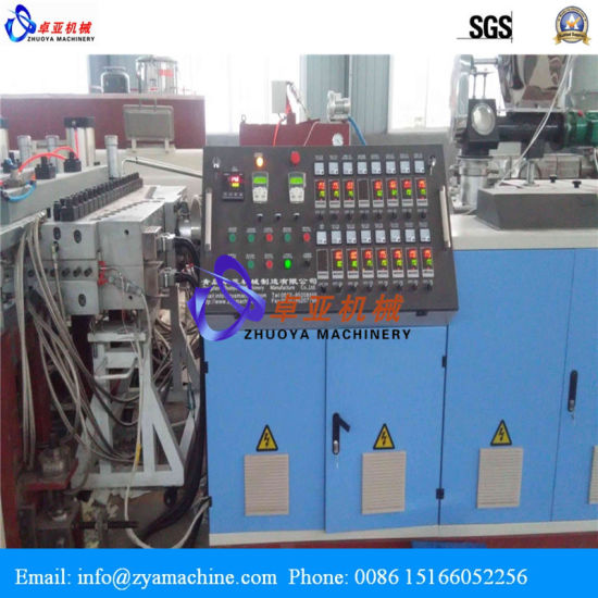 PVC Twin Screw Extruder Machine for Celuka/Skinning Panel Manufacture pictures & photos
