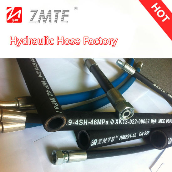 Wire Spiral Hydraulic Hose/Rubber Hose for 4sh/4sp R12r13r15 pictures & photos