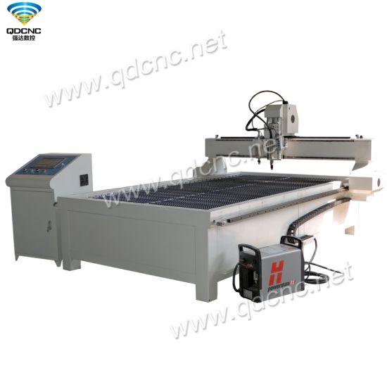 High Quality CNC Plasma Cutting Machine with 63A, 100A, 120A, 160A, 200A Optional Qd-1325PC