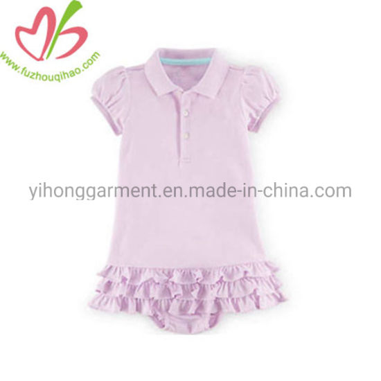 Baby Romper/Baby Clothes with Small Ruffles pictures & photos