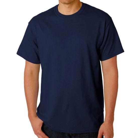 High Quality Custom Logo 100% Cotton Casual Short Sleeved T Shirt Men
