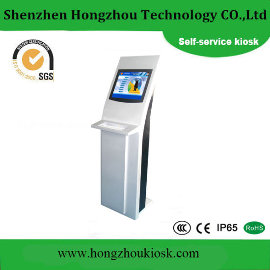 China New Style LCD Display Self Service Kiosk with Keyboard