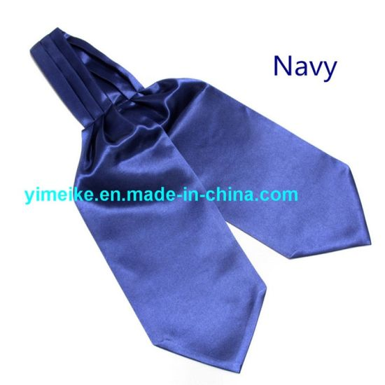 Polyester Satin Black Plain Color Self Tie Mens Neckerchief Multi Colors in Stock pictures & photos