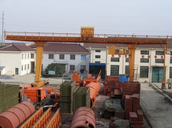 Steel Invetory Yard L-Shape Single Girder Gantry Crane