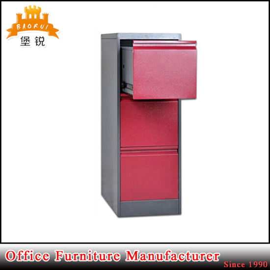 Hot Sale Office Locking Lateral Three Drawer Cheap Metal File Cabinet pictures & photos