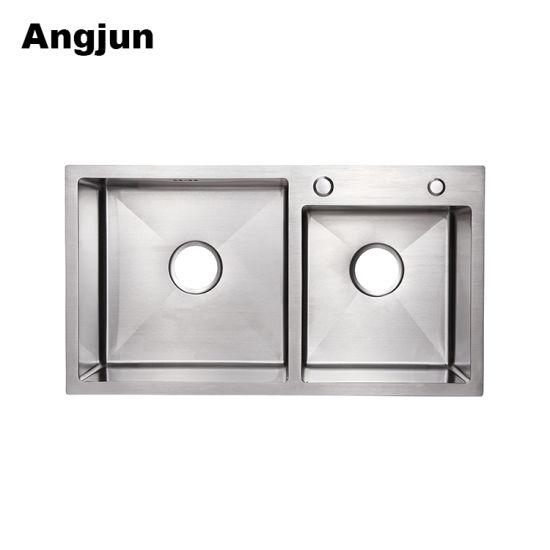 China Double Bowl Undermount Scratch-Resistant Standard Kitchen Sink ...