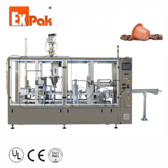High Capacity Linear Nespresso Coffee Capsule Filling and Sealing Machine