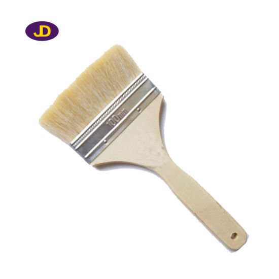 White Bristle with Varnished Wooden Hanle Paint Brush pictures & photos