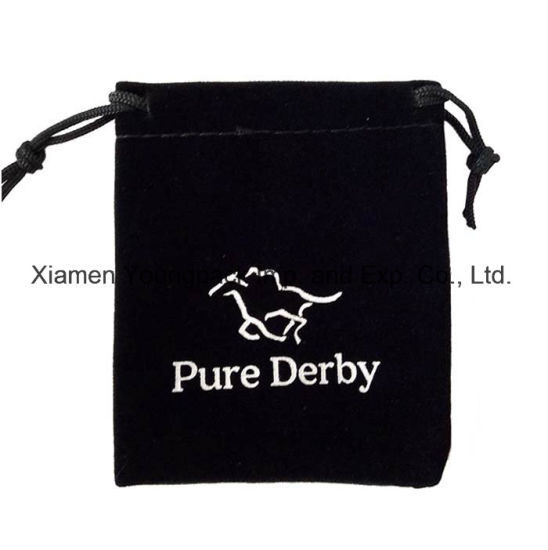 china personalized custom printed small black promotional gift bag
