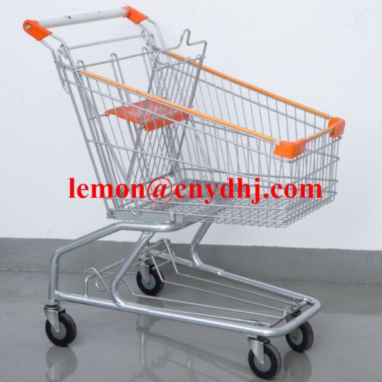 China Wholesale Folding Metal Shopping Grocery Trolley Cart China