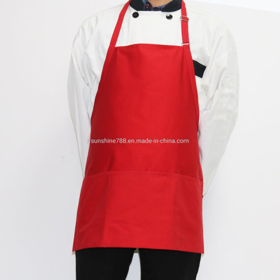 Hot Wholesale Restaurant Hotel Kitchen Coffee Work Cloth Bib Apron