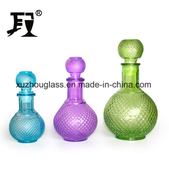All Size Colored Glass Wine Bottle 750ml with Stopper pictures & photos