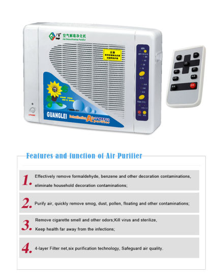 Home Using Air Purifier with Anion, Ozone, HEPA (GL-2108) pictures & photos