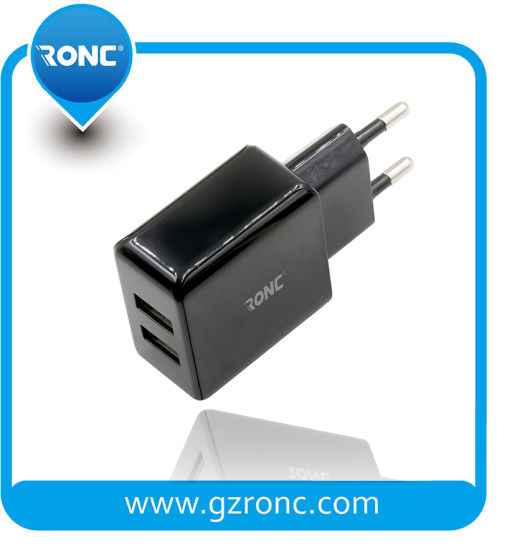 5V 2.4A 2 Ports USB Wall Charger for iPhone/Samsung pictures & photos