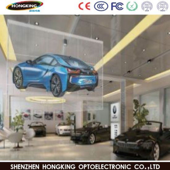 Full Color P7.8 Transparent/Glass/Window LED Wall Display