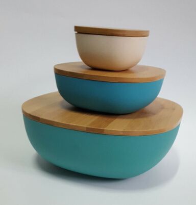 New Product Bamboo Fiber Fruit Bowl, Eco-Friendly Sala Bowl (YK-B3070)
