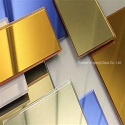 Ultra Clear Paint Glass Coated Color Lacquered Glass Colour Mirror