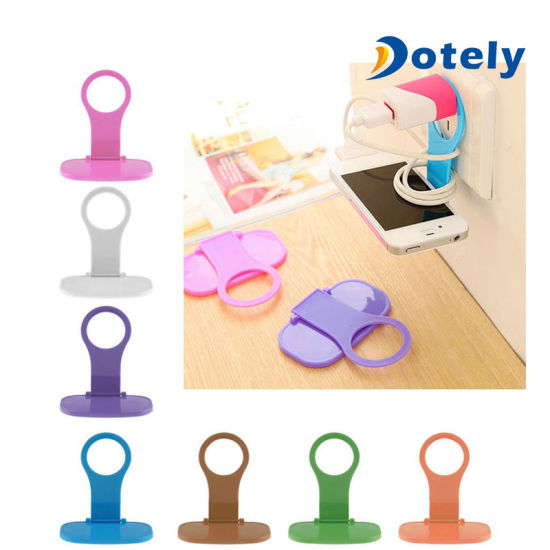 Cell Phone Charging Hanger Shelf Wall Charger Charger Foldable Holder pictures & photos