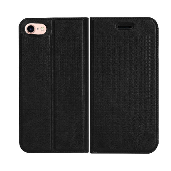 New Clamshell Magnetic Adsorption Card Wallet Cell Phone Holster Phone Cases for Iphonex for iPhone 7 Case pictures & photos