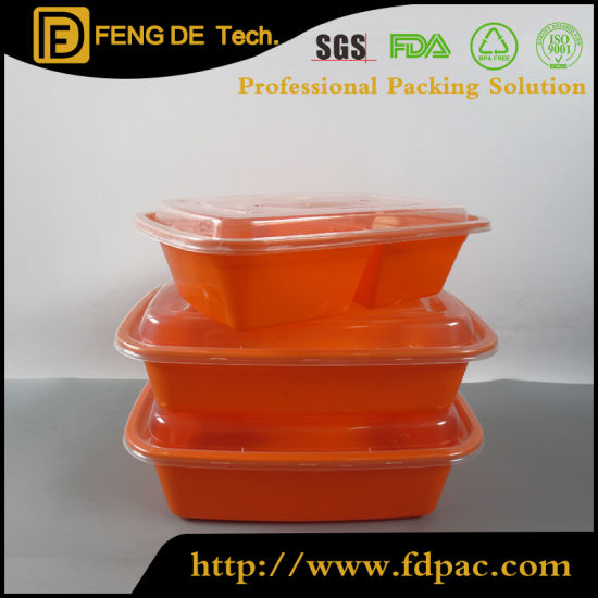 Pp Safe Heat Resistant Air Microwave Square And Round Takeaway Plastic Lunch Food Containers