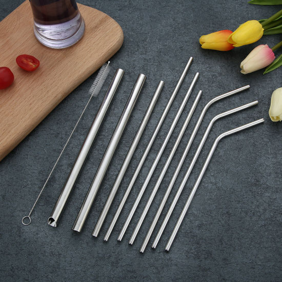 Straight Stainless Steel Metal Drinking Straw