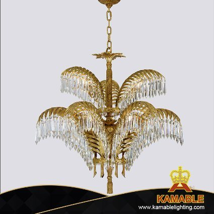 American Style Antique Brass Crystal Chandelier Lighting (FD-0656-6+3) pictures & photos