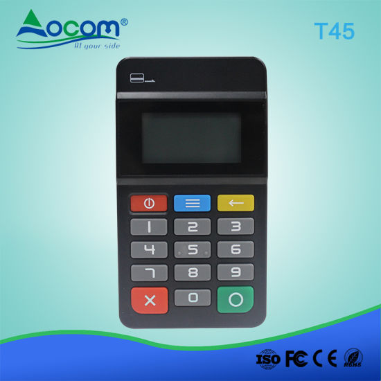 POS-T45 Mini Wireless POS Numeric Keypad with Card Reader pictures & photos