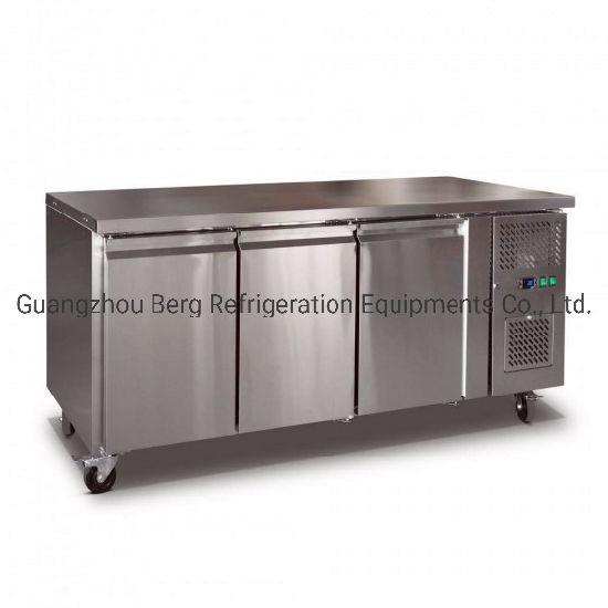 201 Stainless Steelwork Bench Fridge Undercounter Freezer for Kitchen