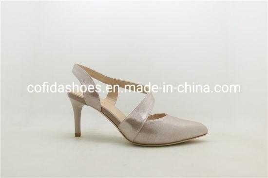 New Design High Heels Leather Women Shoe